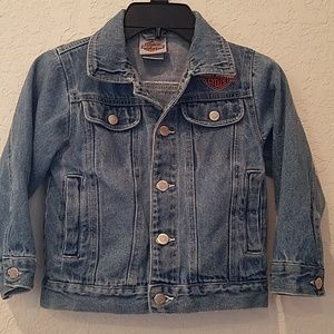 Child's Harley Davidson Jean Jacket! Size 4-5